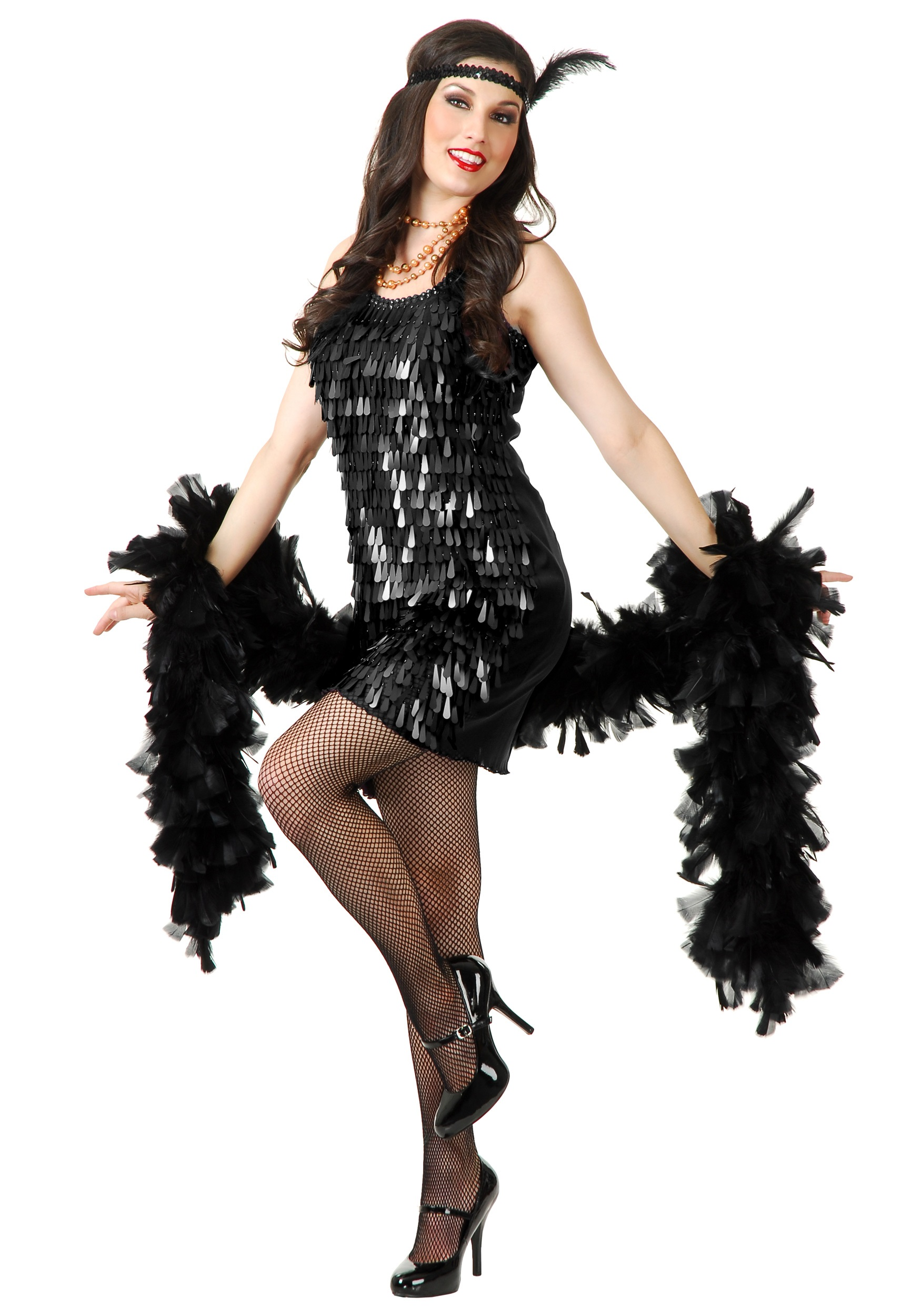 7ffcd33c852ad Black Tear Drop Flapper Costume - Halloween Costumes