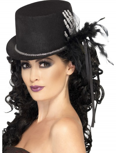 Black Top Hat with Skeleton Hand, halloween costume (Black Top Hat with Skeleton Hand)