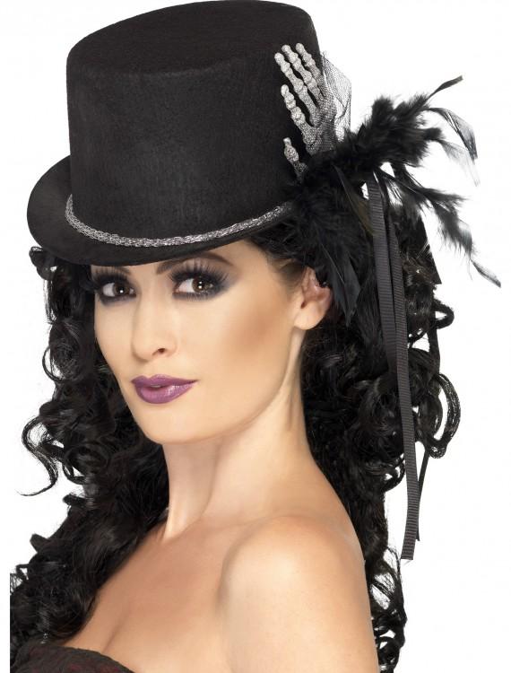 Black Top Hat with Skeleton Hand, halloween costume (Black Top Hat with Skeleton Hand)