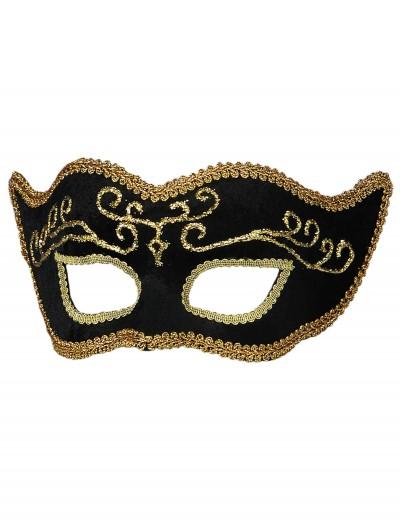 Black Velvet Mardi Gras Mask, halloween costume (Black Velvet Mardi Gras Mask)