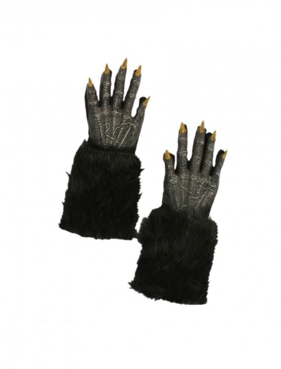 Black Werewolf Gloves, halloween costume (Black Werewolf Gloves)