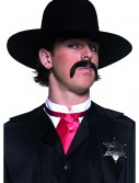 Black Western Sheriff Hat, halloween costume (Black Western Sheriff Hat)