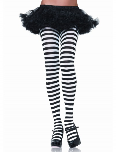 Black & White Striped Tights, halloween costume (Black & White Striped Tights)
