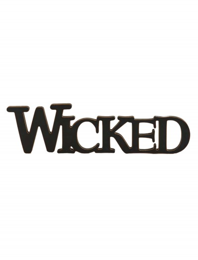 Black Wicked Cutout Sign, halloween costume (Black Wicked Cutout Sign)