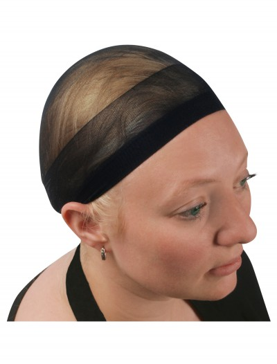 Black Wig Cap, halloween costume (Black Wig Cap)