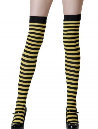 Black / Yellow Striped Stockings, halloween costume (Black / Yellow Striped Stockings)