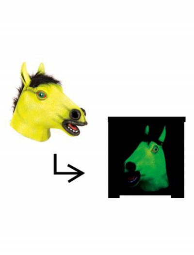Blacklight Horse Mask, halloween costume (Blacklight Horse Mask)
