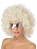 Blonde and Silver Disco Wig, halloween costume (Blonde and Silver Disco Wig)