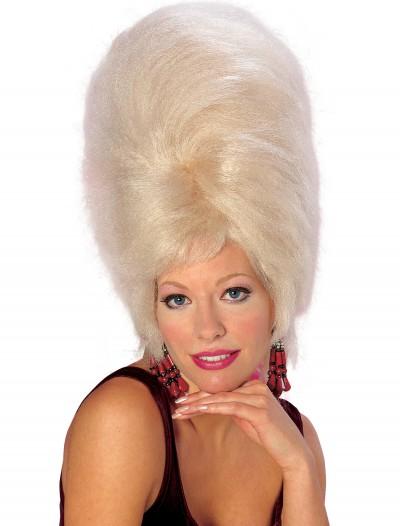 Blonde Beehive Wig, halloween costume (Blonde Beehive Wig)