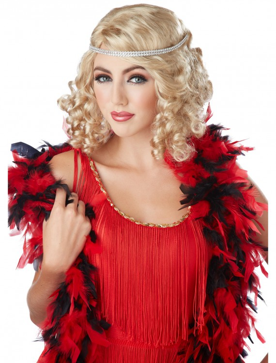 Blonde Ritzy Wig w/Headband, halloween costume (Blonde Ritzy Wig w/Headband)
