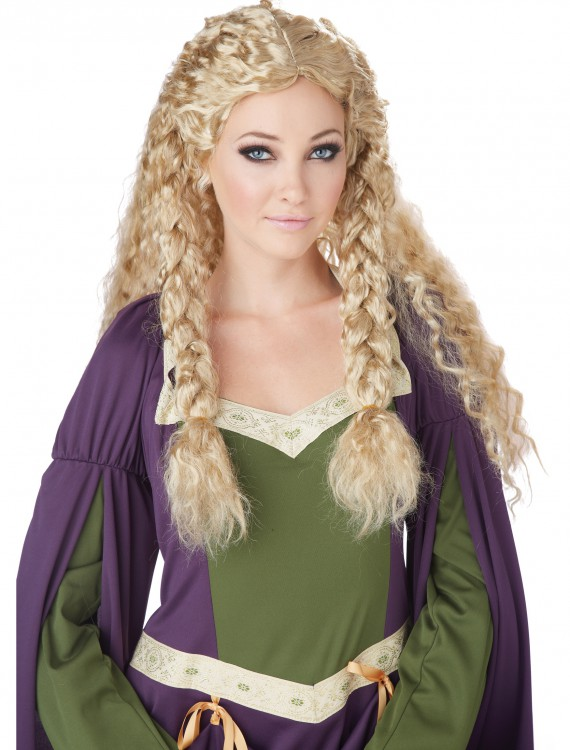 Blonde Viking Princess Wig, halloween costume (Blonde Viking Princess Wig)