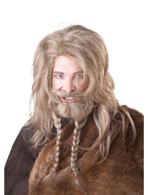 Blonde Viking Wig, Beard and Mustache, halloween costume (Blonde Viking Wig, Beard and Mustache)