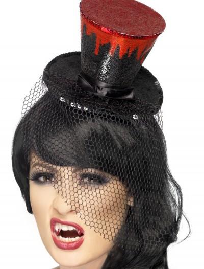Blood Drip Mini Top Hat, halloween costume (Blood Drip Mini Top Hat)