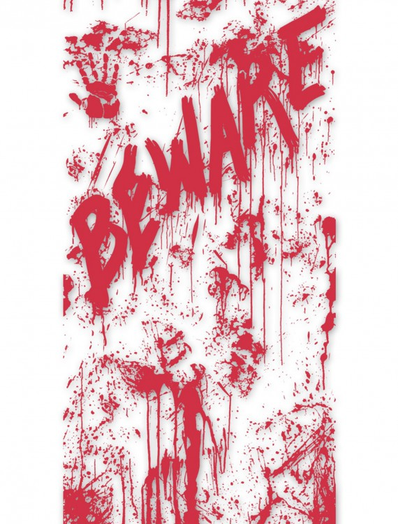 Bloody Door Cover, halloween costume (Bloody Door Cover)