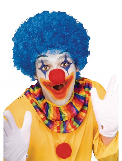 Blue Afro Clown Wig, halloween costume (Blue Afro Clown Wig)