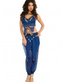 Blue Belly Dancer Costume, halloween costume (Blue Belly Dancer Costume)