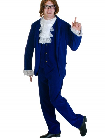 Blue Deluxe Plus Size 60's Swinger Costume, halloween costume (Blue Deluxe Plus Size 60's Swinger Costume)
