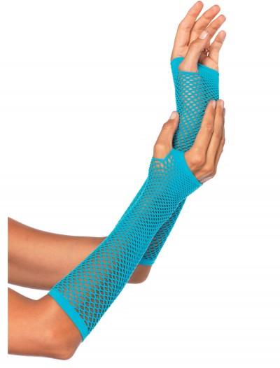 Blue Fishnet Gloves, halloween costume (Blue Fishnet Gloves)