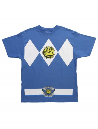 Blue Power Ranger T-Shirt, halloween costume (Blue Power Ranger T-Shirt)