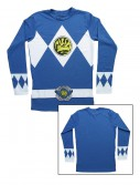 Blue Power Rangers Long Sleeve Costume Shirt, halloween costume (Blue Power Rangers Long Sleeve Costume Shirt)