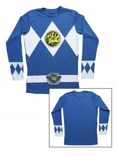 Blue Power Rangers Long Sleeve Costume Shirt, halloween costume (Blue Power Rangers Long Sleeve Costume Shirt)