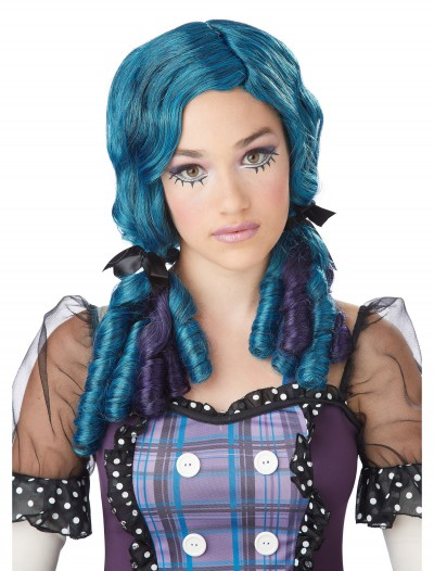 Blue / Purple Doll Curls Wig, halloween costume (Blue / Purple Doll Curls Wig)
