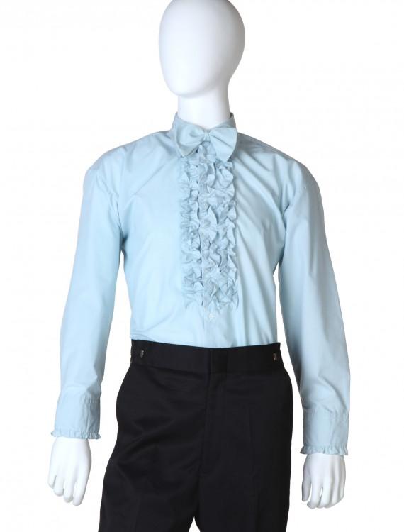Blue Ruffled Tuxedo Shirt, halloween costume (Blue Ruffled Tuxedo Shirt)