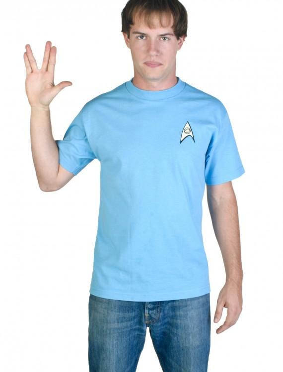 Blue Star Trek Costume T-Shirt, halloween costume (Blue Star Trek Costume T-Shirt)