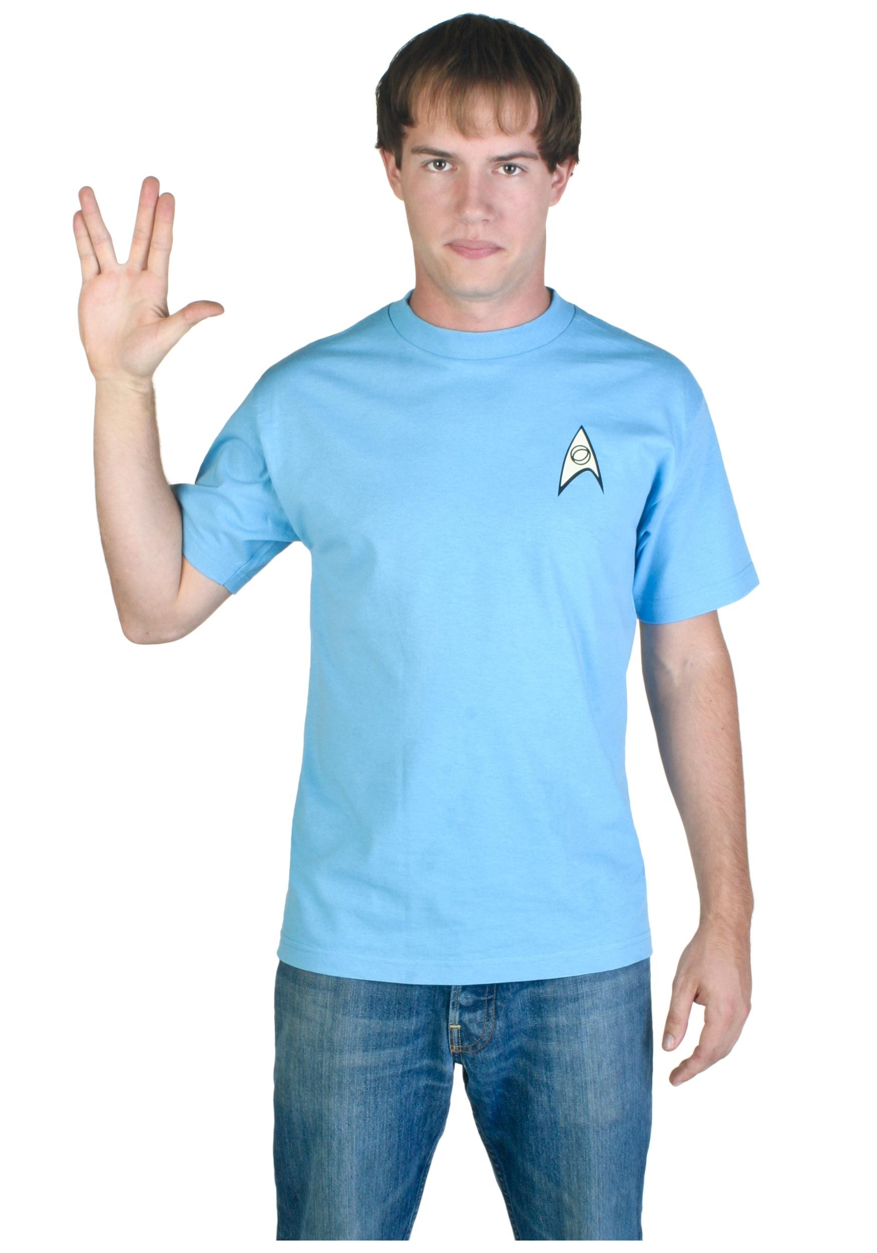 Blue Star Trek Costume T Shirt Halloween Costumes