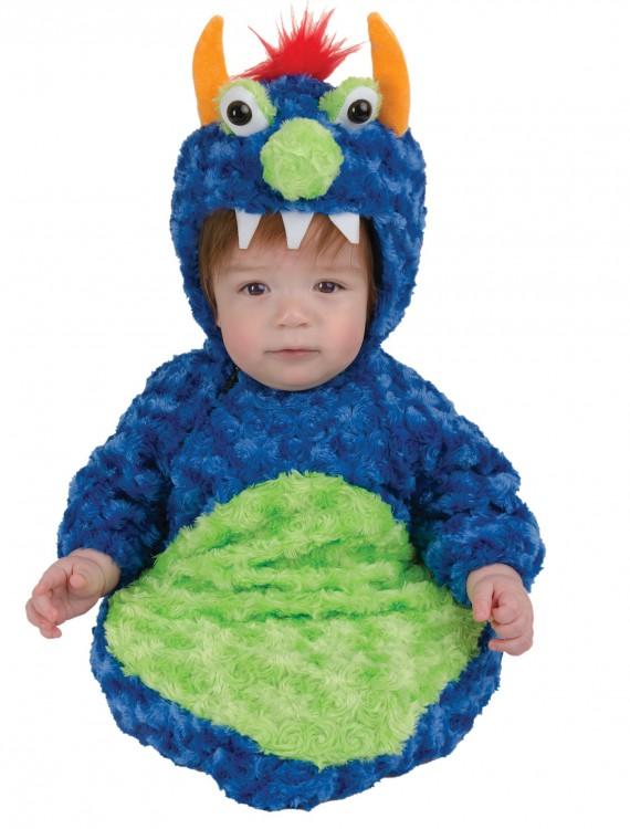 Blue Swirl Monster Bunting, halloween costume (Blue Swirl Monster Bunting)