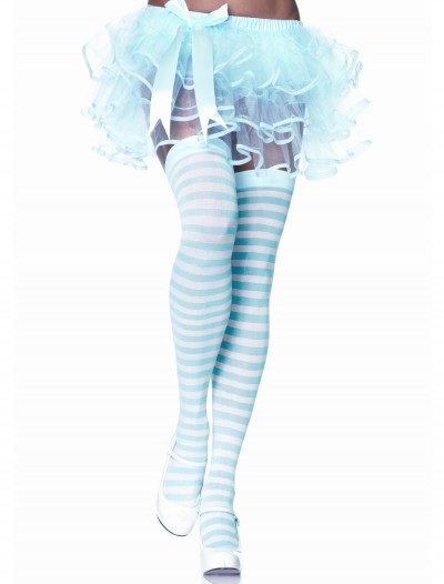 Blue / White Striped Stockings, halloween costume (Blue / White Striped Stockings)
