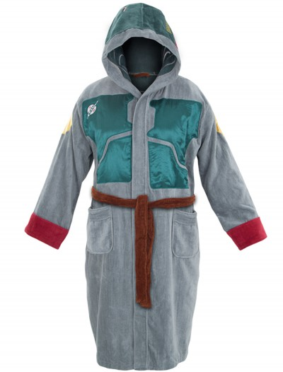 Boba Fett Adult Hooded Bath Robe, halloween costume (Boba Fett Adult Hooded Bath Robe)