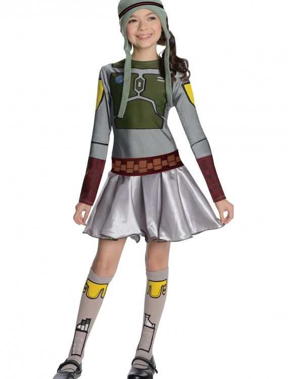 Boba Fett Girls Dress Costume, halloween costume (Boba Fett Girls Dress Costume)