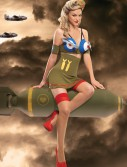 Bomber Girl Costume, halloween costume (Bomber Girl Costume)