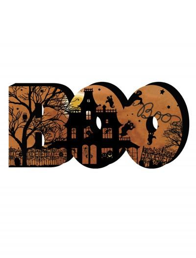 Wood Boo Sign, halloween costume (Wood Boo Sign)