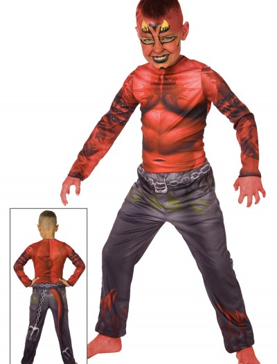 Boy Devil Sublimation Costume, halloween costume (Boy Devil Sublimation Costume)