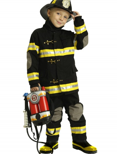 Boys Black Fireman Costume, halloween costume (Boys Black Fireman Costume)