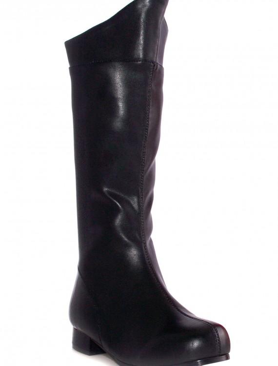 Boys Black Superhero Boots, halloween costume (Boys Black Superhero Boots)