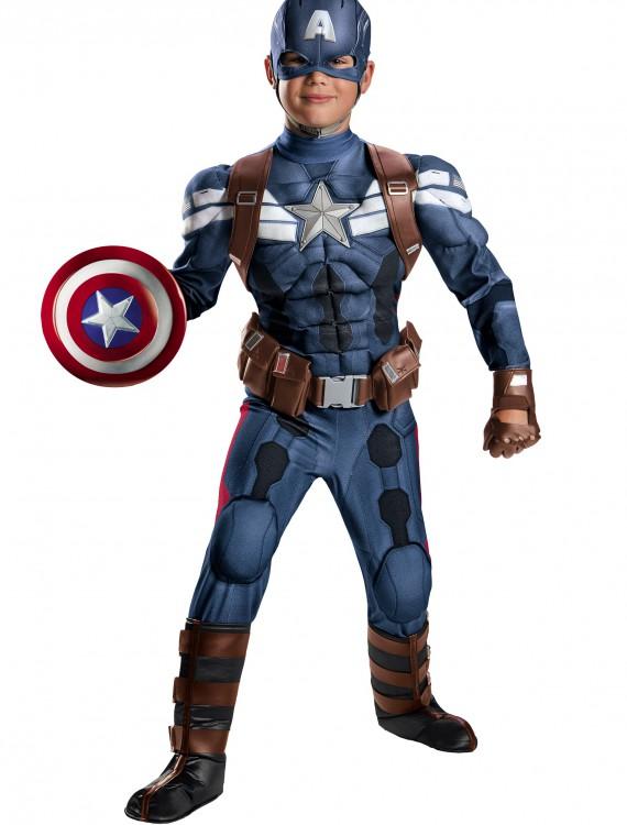 Boys Stealth Captain America Movie 2 Prestige Costume, halloween costume (Boys Stealth Captain America Movie 2 Prestige Costume)