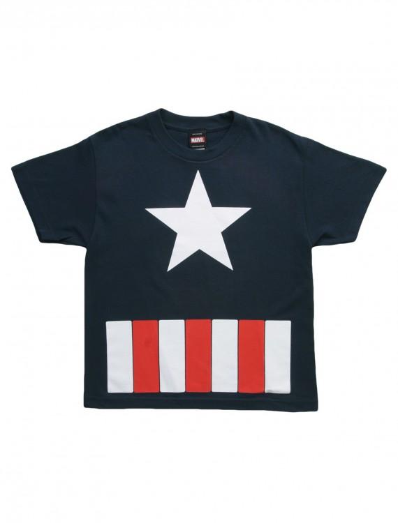 Boys Captain America The Great Star TShirt, halloween costume (Boys Captain America The Great Star TShirt)