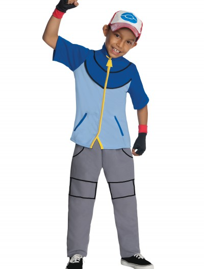 Boys Deluxe Pokemon Ash Costume, halloween costume (Boys Deluxe Pokemon Ash Costume)