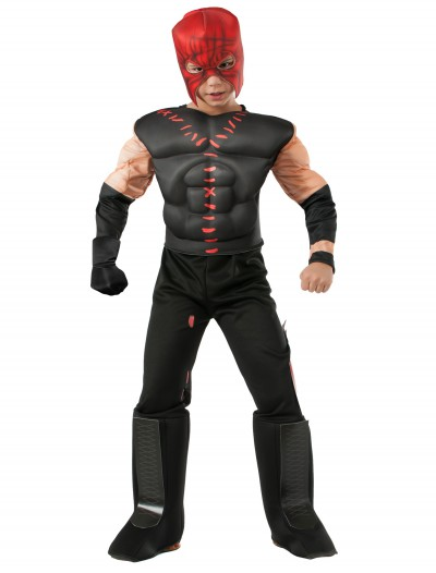 Boys Deluxe WWE Kane Costume, halloween costume (Boys Deluxe WWE Kane Costume)