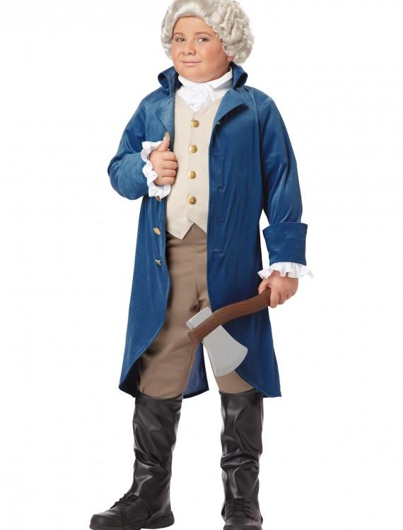 Boys George Washington Costume, halloween costume (Boys George Washington Costume)