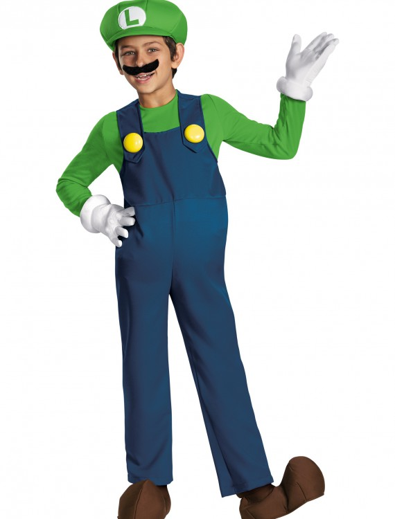 Boys Luigi Prestige Costume, halloween costume (Boys Luigi Prestige Costume)