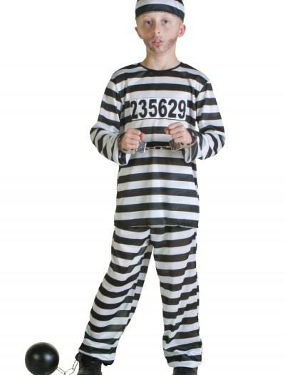 Boys Prisoner Costume, halloween costume (Boys Prisoner Costume)