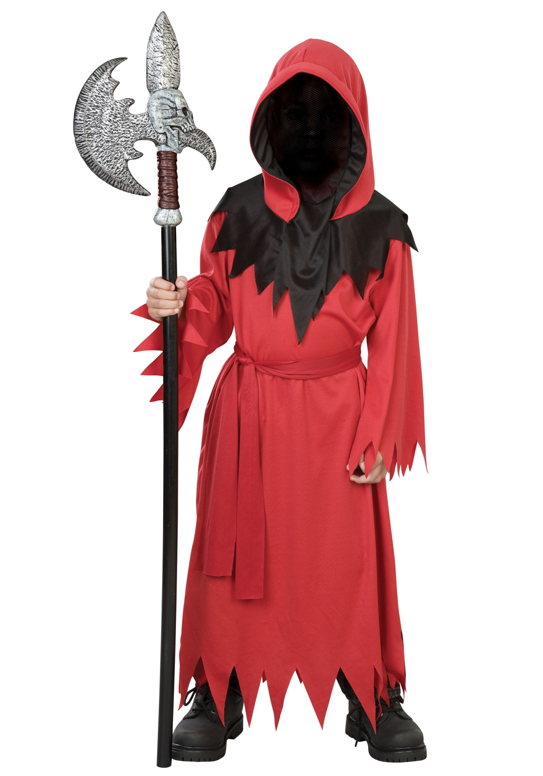 Boys Red Faceless Ghost Costume - Halloween Costumes