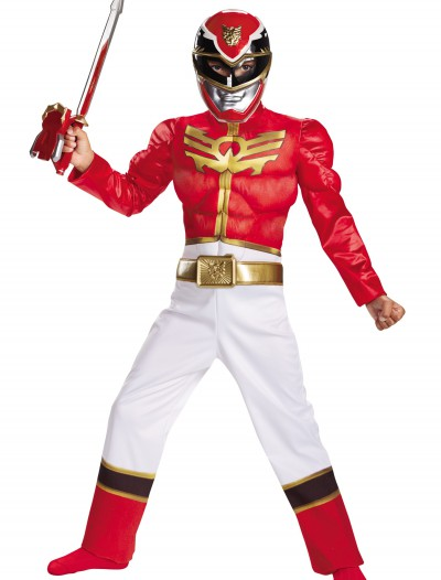Boys Red Ranger Megaforce Classic Muscle Costume, halloween costume (Boys Red Ranger Megaforce Classic Muscle Costume)