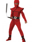Boys Red Stealth Ninja Costume, halloween costume (Boys Red Stealth Ninja Costume)