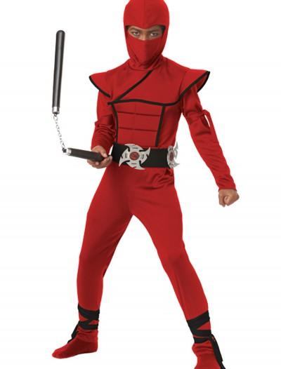 Boys Red Stealth Ninja Costume, halloween costume (Boys Red Stealth Ninja Costume)