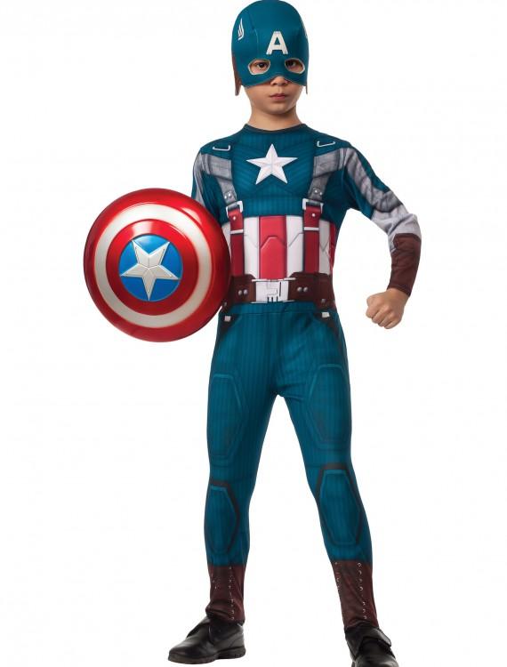 Boys Retro Captain America Costume, halloween costume (Boys Retro Captain America Costume)